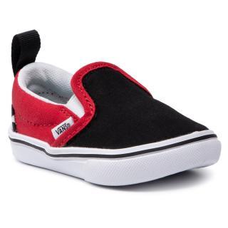 Tenisky VANS - Comfycush Slip-On VN0A4TZK35U1  Black/Red pánské Červená 18