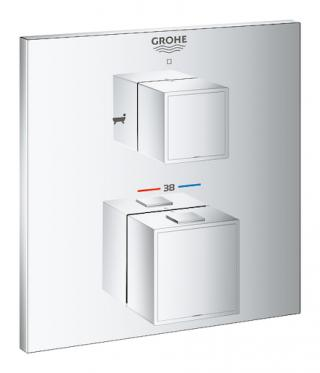 Termostat Grohe Grohtherm Cube bez podomítkového tělesa chrom 24155000 chrom chrom