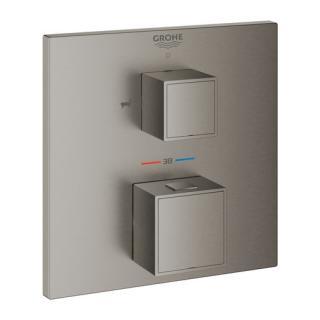 Termostat Grohe Grohtherm Cube bez podomítkového tělesa kartáčovaný Hard Graphite 24155AL0 ostatní Kartáčovaný Hard Graphite