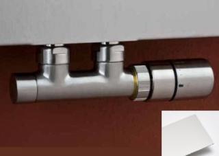 Termostatický ventil P.M.H. kov bílá TWIN bílá bílá