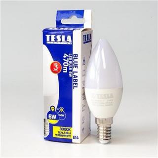 Tesla LED žárovka svíčka E14 6W