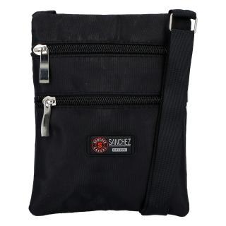Textilní černá unisex crossbody kapsička - Sanchez F85 dámské