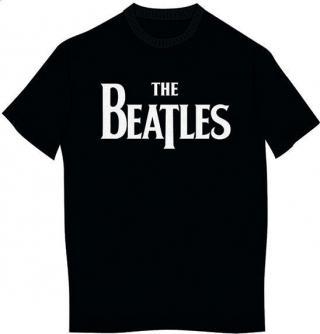 The Beatles Kids Tee Drop T Logo Black  pánské 9 - 10 Y