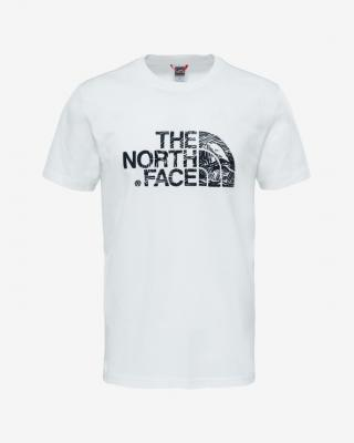 The North Face Woodcut Dome Triko Bílá pánské XXL