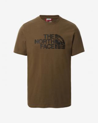 The North Face Woodcut Dome Triko Hnědá pánské XXL