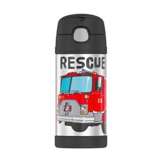 Thermos Dětská termoska s brčkem - hasiči 355 ml