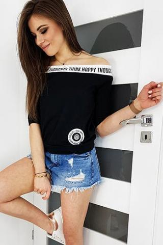 THIN HAPPY womens blouse black RY1275 dámské Neurčeno S
