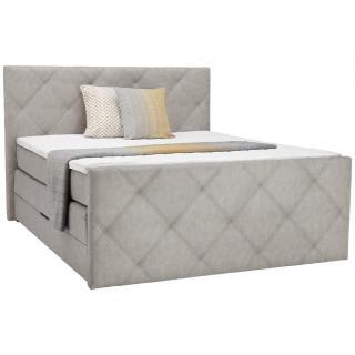 Ti`me POSTEL BOXSPRING, 180/200 cm, textil, šedá - šedá 180/200