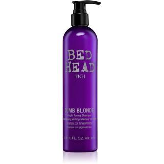 TIGI Bed Head Dumb Blonde fialový tónovací šampon pro blond vlasy 400 ml dámské 400 ml