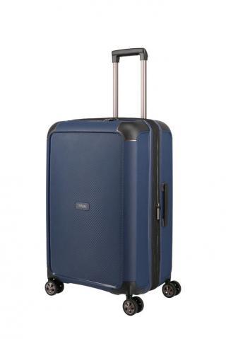 Titan Skořepinový cestovní kufr Compax 4w M Navy 75/83 l modrá