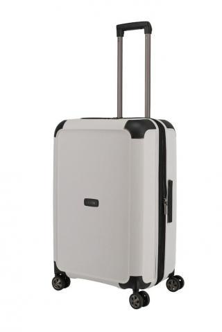 Titan Skořepinový cestovní kufr Compax 4w M White 75/83 l bílá