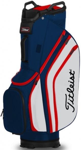 Titleist Cart 14 Lightweight Cart Bag Navy/White/Red Blue