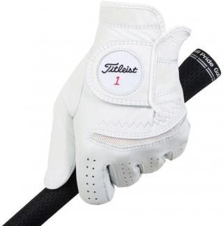 Titleist Permasoft Mens Golf Glove 2020 Right Hand for Left Handed Golfers White ML pánské ML