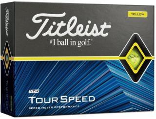 Titleist Tour Speed Golf Balls Yellow