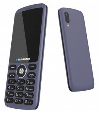 Tlačítkový telefon blaupunkt fl 07, modrá použité, neopotřebené z