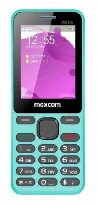 Tlačítkový telefon maxcom classic mm139 banana, modrá použité, ne