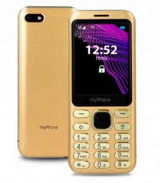 Tlačítkový telefon myphone maestro, zlatá použité, neopotřebené z