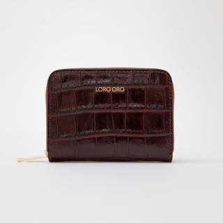 Tmavě hnědá peněženka Loro Oro Marrone dámské One size