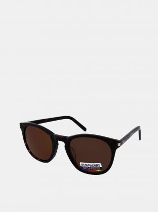 Tmavě hnědé sluneční brýle Crullé dámské tmavě hnědá