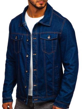 Tmavě modrá pánská džínová bunda Bolf 1110 S