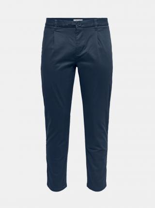 Tmavě modré chino kalhoty ONLY & SONS pánské tmavě modrá XS