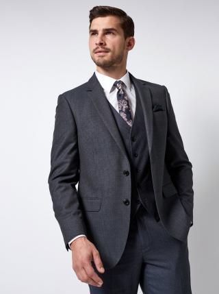 Tmavě modré oblekové sako s drobným vzorem Burton Menswear London pánské tmavě modrá XS