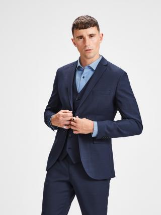Tmavě modré oblekové sako s příměsí vlny Jack & Jones Laris pánské tmavě modrá L