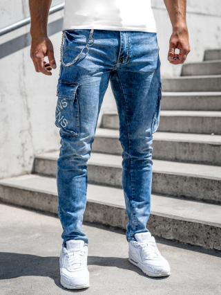 Tmavě modré pánské kapsáčové džíny skinny fit Bolf R51012S0 32/M