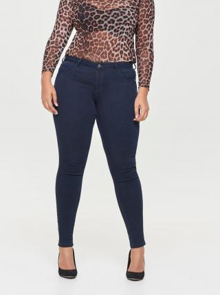 Tmavě modré push up skinny fit džíny ONLY CARMAKOMA Carthunder dámské tmavě modrá 50