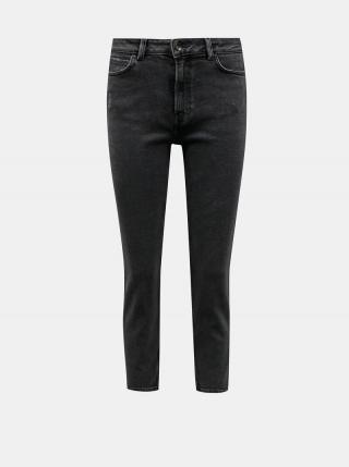 Tmavě šedé straight fit džíny Jacqueline de Yong Kaja dámské tmavě šedá M