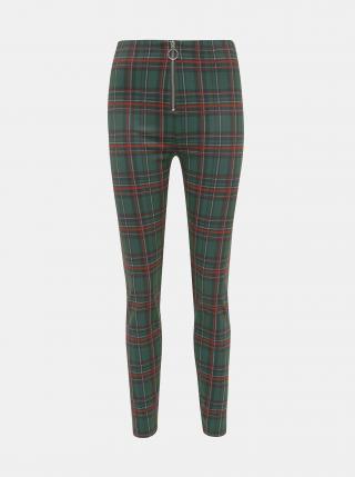 Tmavě zelené dámské kostkované kalhoty Haily´s Felina dámské tmavě zelená L