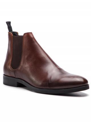 Togoshi Kotníková obuv s elastickým prvkem TG-12-02-000063 Hnědá pánské 46