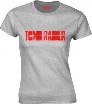 Tomb Raider Logo Grey Womens T-Shirt XXL dámské 2XL