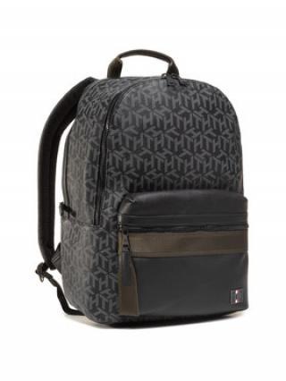 Tommy Hilfiger Batoh Coated Canvas Backpack AM0AM06466 Černá 00