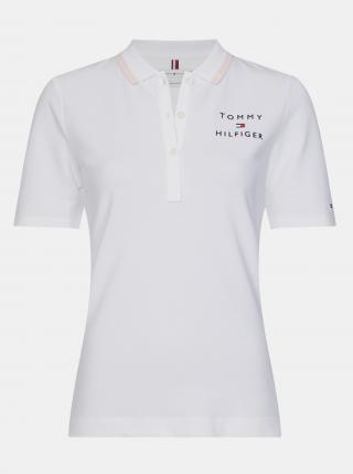 Tommy Hilfiger bílé polo tričko - XS dámské bílá XS