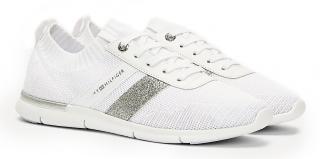 Tommy Hilfiger bílé ponožkové tenisky Feminine Lightweight Sneaker White - 41 dámské bílá 41