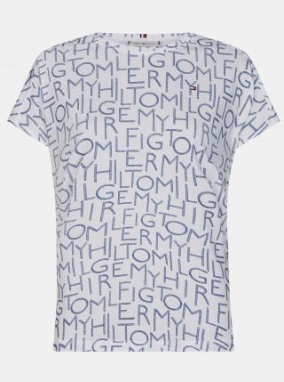 Tommy Hilfiger bílé tričko s nápisy - XS dámské bílá XS