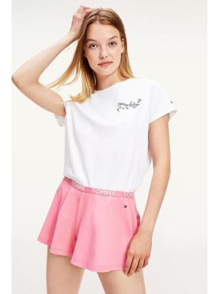 Tommy Hilfiger bílo-růžové dámské pyžamo SS Short set dámské bílá XS