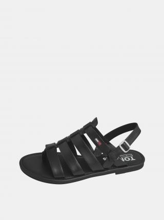 Tommy Hilfiger černé kožené sandály - 36 dámské černá 36