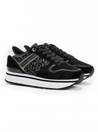 Tommy Hilfiger černé tenisky na platformě Metallic Flatform Sneaker dámské černá 40