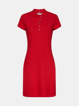 Tommy Hilfiger červené basic polo šaty - S dámské červená S