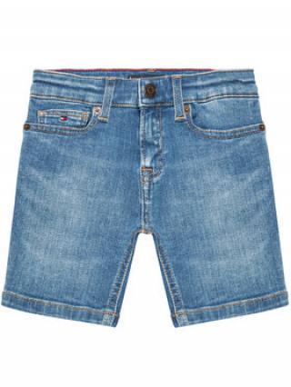 Tommy Hilfiger Džínové šortky Spencer KB0KB06473 Tmavomodrá Slim Fit pánské 16Y