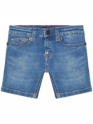 Tommy Hilfiger Džínové šortky Spencer KB0KB06473 Tmavomodrá Slim Fit pánské 7Y