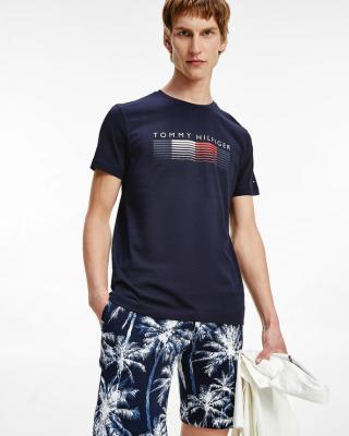 Tommy Hilfiger Fade Graphic Cord Tee Triko Modrá pánské S