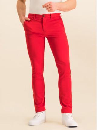 TOMMY HILFIGER Kalhoty z materiálu Bleecker MW0MW12586 Červená Slim Fit pánské 32_34