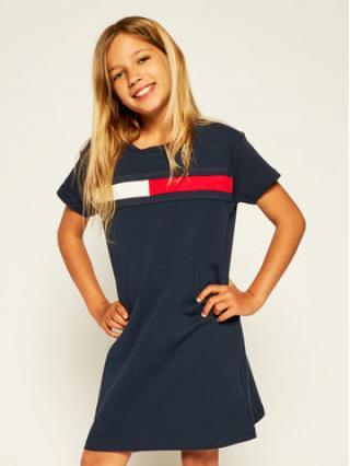Tommy Hilfiger Každodenní šaty Flag Jersey KG0KG05159 D Tmavomodrá Regular Fit dámské 12