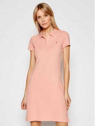 Tommy Hilfiger Každodenní šaty WW0WW27949 Růžová Slim Fit dámské XS