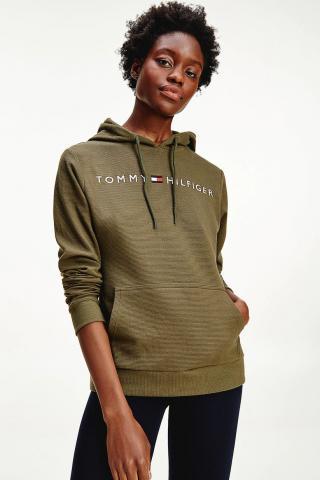 Tommy Hilfiger khaki mikina OH Hoodie RIB s kapucí - XS dámské XS