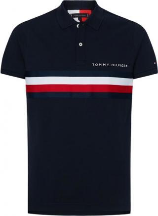 Tommy Hilfiger Pánské polo triko Slim Fit MW0MW14439-DW5 L pánské