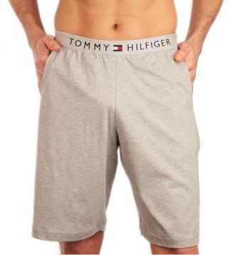 Tommy Hilfiger Pánské pyžamové kraťasy Short UM0UM01203-004 Grey Heather M